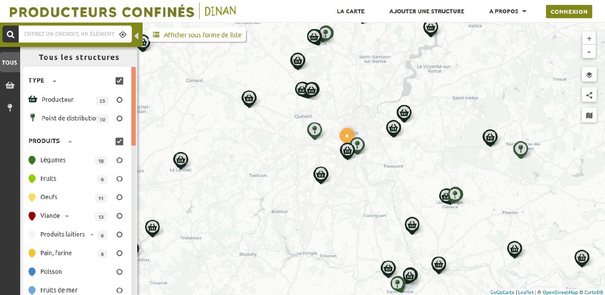 image Carte Producteurs confinés Pays de Dinan